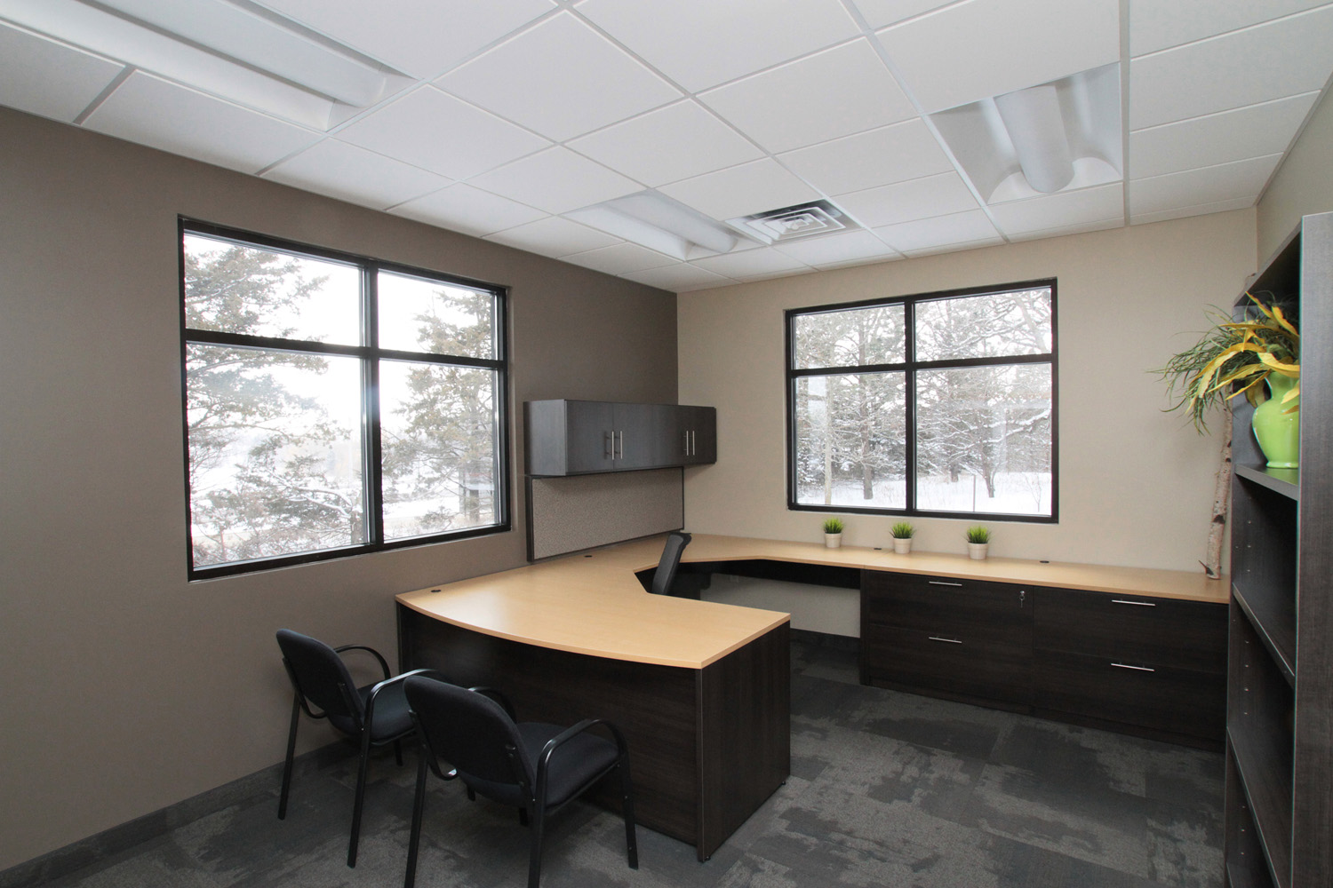 Office space design mankato new used office for Open space interior design