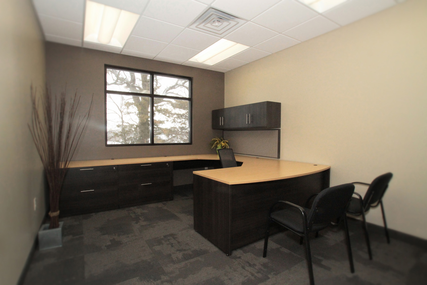 Office space design mankato new used office for Small company office design