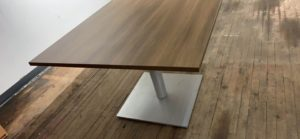 Square Table with Metal Base Image